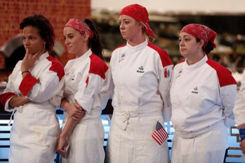 "hell's kitchen recap 2/17/16: season 15 episode 6 ""12 chefs"