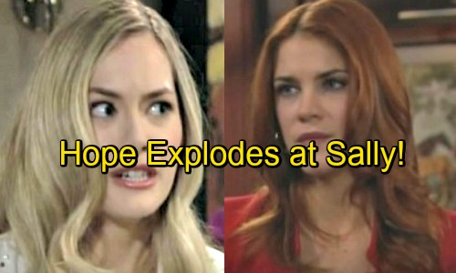 The Bold and the Beautiful Spoilers: Hope Explodes as Sally Joins Hope for the Future Line – Fierce Foes Cause Major Drama