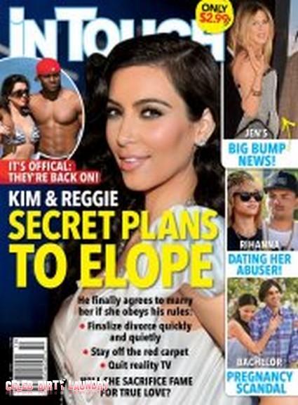 Kim Kardashian's Secret Elopement Plans With Reggie Bush (Photo)