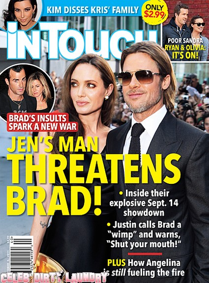 InTouch: Jennifer Aniston's Man Threatens Brad Pitt!