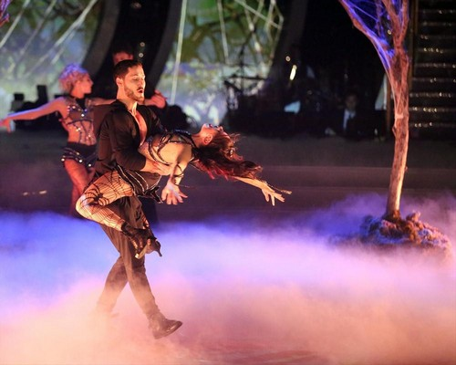 Janel Parrish and Val Chmerkovskiy Dancing With the Stars Contemporary Video Season 19 Week 8 #DWTS