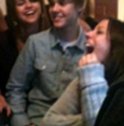 Justin Bieber Sitting On Selena Gomez's Lap at Jessica Jarrell's Birthday?