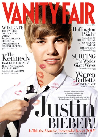 Justin Bieber Covers Vanity Fair With Lots Of Kisses