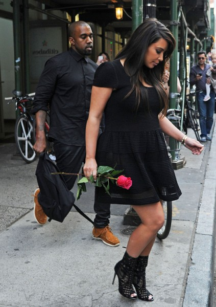 Kim Kardashian And Kanye West Using Baby To Promote New Album And Fashion Line 0503