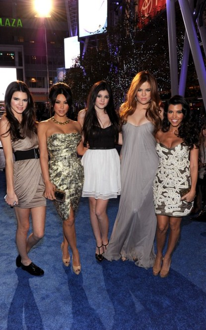The Kardashian Sisters Arriving at the 2011 People's Choice Awards
