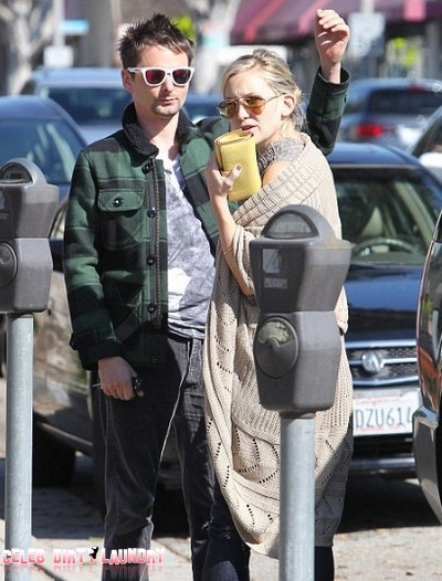 Matt Bellamy and Kate Hudson Back In L.A Shopping For Furniture… No Sign Of Baby Bing!