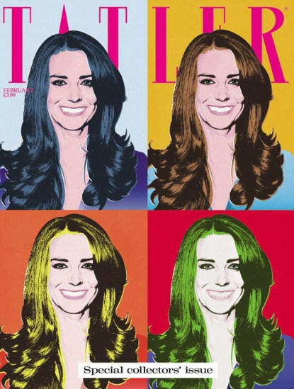Kate Middleton Gets an Andy Warhol Style Tattler Cover