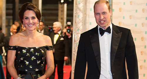 Catherine, Duchess of Cambridge and Prince William walk BAFTAs red carpet