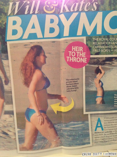 Did Carole Middleton Leak Kate Middleton Bikini Baby Bump Photos - Secret Papparazzo on Mustique?