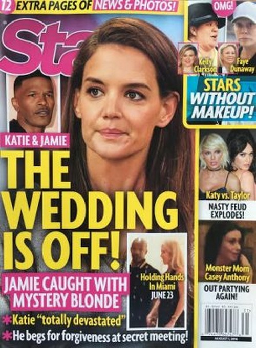 Jamie Foxx And Katie Holmes Break-Up, Wedding Cancelled After Foxx Reportedly Caught With Mystery Blond?