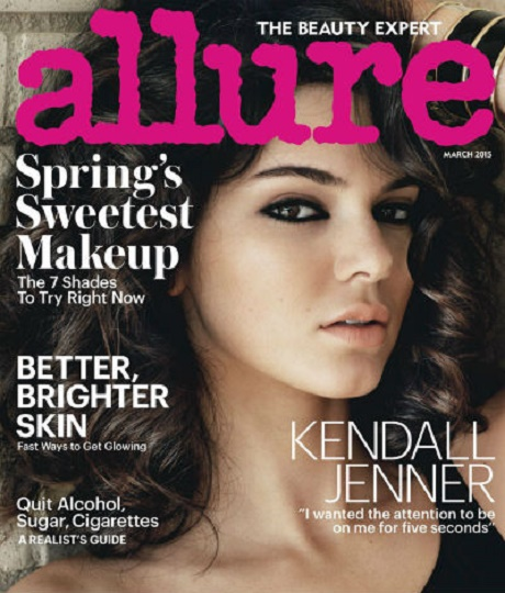 Kendall Jenner Covers Allure Magazine: Reveals She Wants All The Attention, Hates That Kim Kardashian's More Famous! (PHOTO)