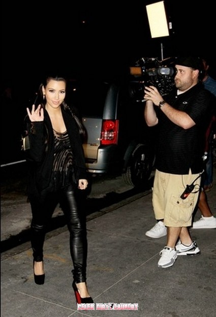 KIm Kardashian's Idea Of A Bowling Outfit, 6 Christian Louboutin & Leather