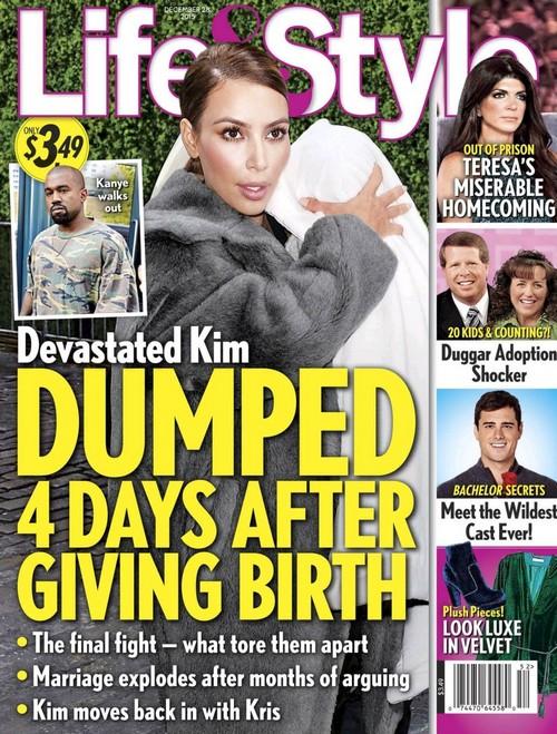 Kim Kardashian Divorce: Dumped by Kanye West 4 Days After Giving Birth to Saint West?