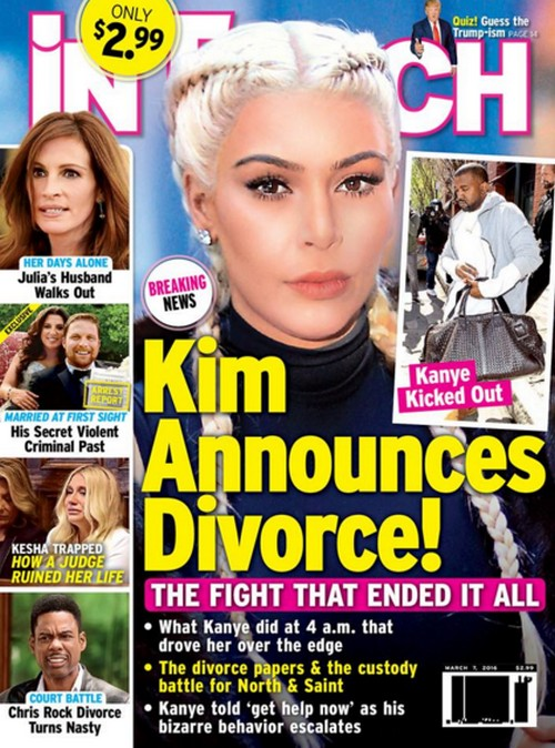 Kim Kardashian Divorce Official Announcement: Kanye West Kicked Out, Custody Battle Over North And Saint Begins