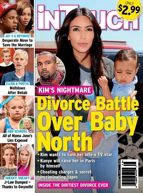 Kim Kardashian Fighting With Kanye West: Divorce and Custody Battle Over North West? (PHOTOS)