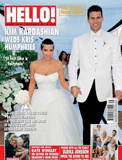 Hello! Magazine's Kim Kardashian Wedding Photos