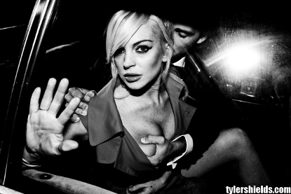 Lindsay Is A Handful, Literally -- LiLo's Boob Gripped In New Photo Shoot
