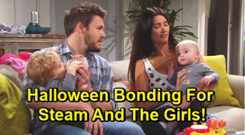 The Bold and the Beautiful Spoilers: Steffy's Amazing Halloween - Bonds With Liam & Girls While Hope's Busy Targeting Thomas