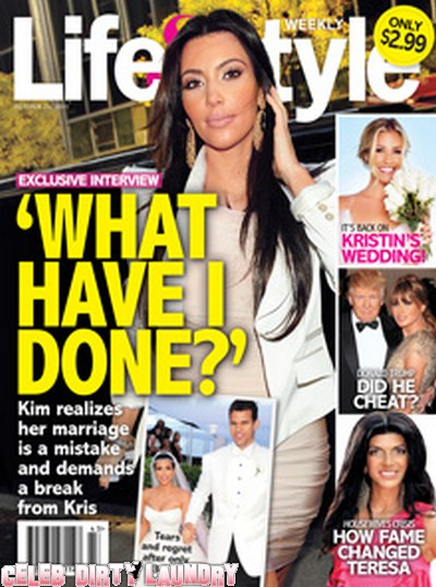 Life & Style: Kim Kardashian Realizes Her Marriage Is a Mistake (Photo)