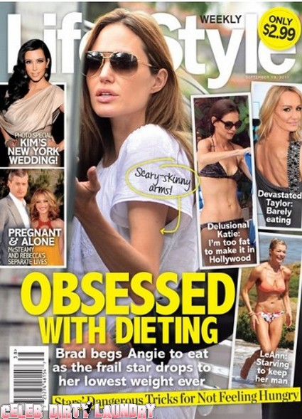 Life & Style: Brad Pitt Begs Scary Skinny Angelina Jolie To Eat  - Photo