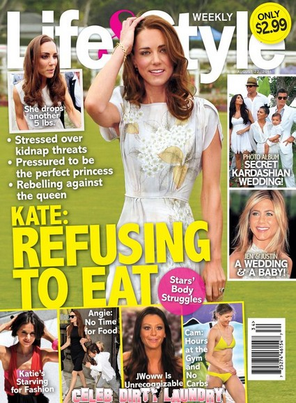 Life & Style Magazine: Kate Middleton Refusing To Eat