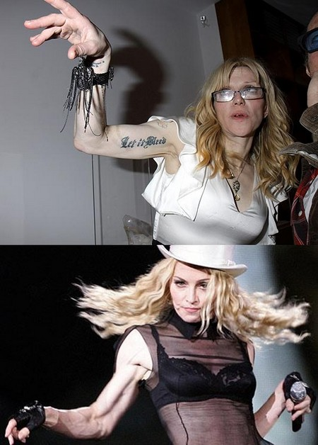 Are Courtney Love and Madonna Twin Sisters? (Photo)