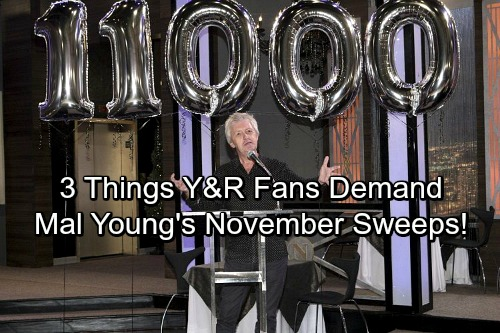 The Young and the Restless Spoilers: 3 Things Fans Want to See More of – Mal Young's Y&R Era Begins November Sweeps
