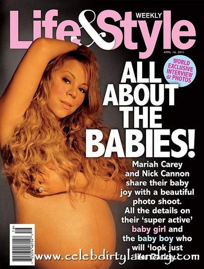 Narcissism At It Best!  Mariah Carey's Nude Pregnancy Cover