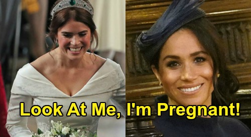 Meghan Markle's Selfish Royal Gaffe Exposed - Announced Pregnancy At Princess Eugenie's Wedding?