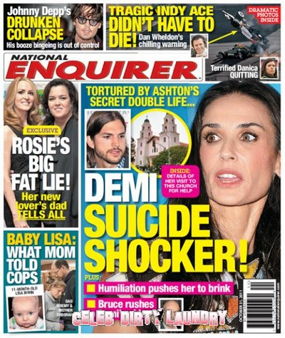 National Enquirer: Demi Moore's Suicide Shocker!