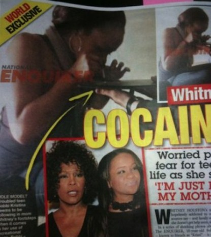 Whitney Houston's daughter Bobbi Kristina Brown Denies Cocaine Snorting Allegations