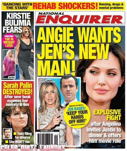 National Enquirer: Angelina Jolie Wants Jennifer Aniston's New Man