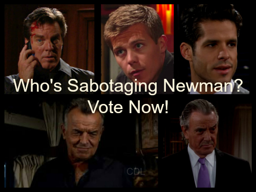 'The Young and The Restless' Spoilers: Who is Sabotaging Newman Enterprises - Vote in Our Poll
