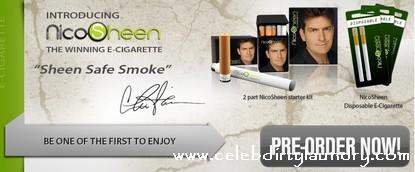 Charlie Sheen Partners With E-Cigarette - NicoSheen