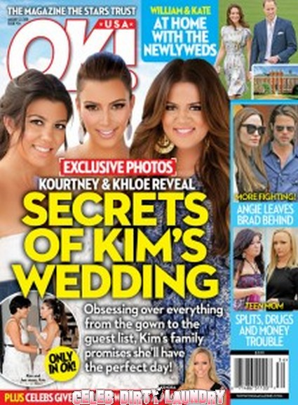 OK! Magazine: Secrets Of Kim Kardasian's Wedding - Photo