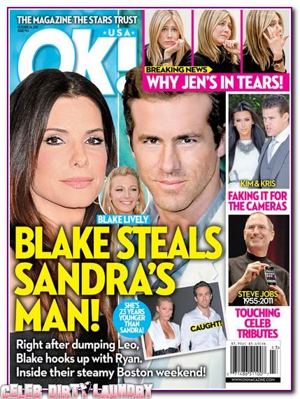 OK! Magazine: Blake Lively Steals Sandra Bullock's Man