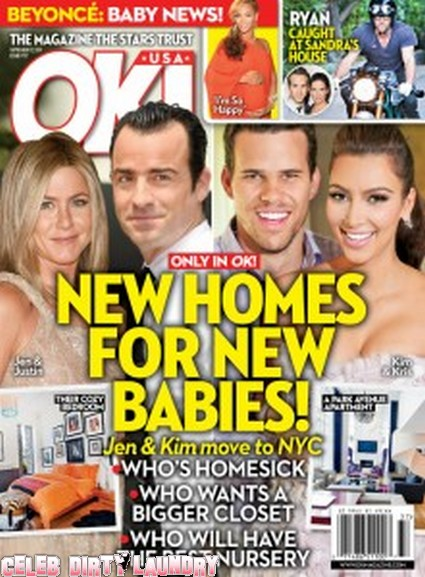 OK! Magazine: Jennifer Aniston & Kim Kardashian's New Homes For New Babies - Photo