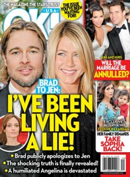 OK! Magazine: Brad Pitt Tell Jennifer Aniston I've Been Living A Lie