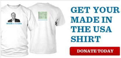 Obama Campaign Selling T-Shirts 'Made in the USA' & His Birth Certificate