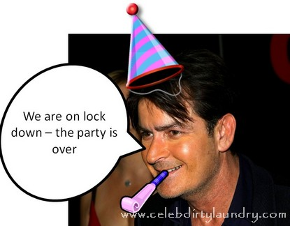 Charlie Sheen Let's Party Girls Know That Party Is Over... For Now