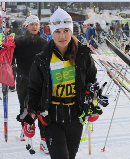Kate Middelton's Sister Pippa Middleton Skis And Smiles (Photo)