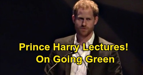 Prince Harry Lectures Others On Going Green - Called 'Tone Deaf & Criticized For His Own Travel Practices