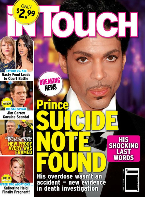 Prince Suicide Note According to Alleged Source - Chronic Pain to Blame for Overdose Claims Report