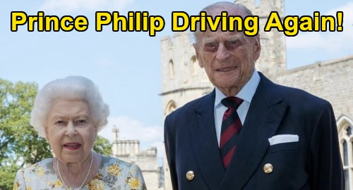 Prince Philip Driving Again - Two Years After Crash & Giving Up Driver's License