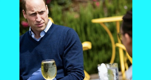 Prince William enjoys a drink ahead of England pubs reopening
