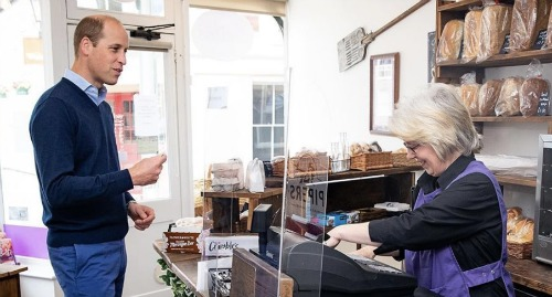 Prince William Visits Local Bakery - Reveals His Children's Kitchen Mishaps At Home