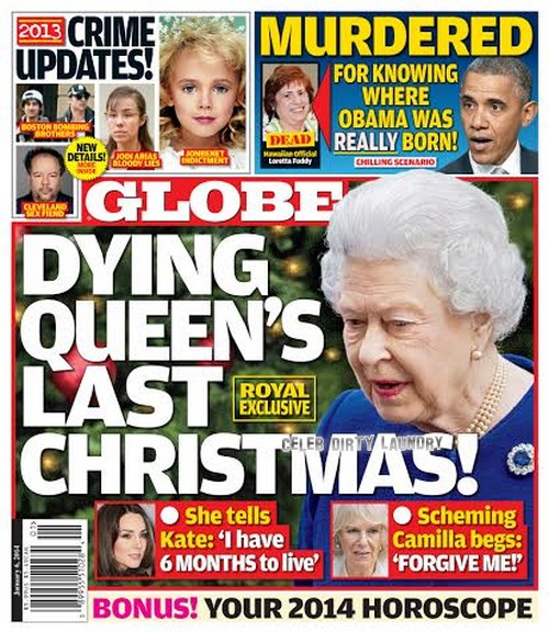 GLOBE: Queen Elizabeth's Last Christmas: Dying Monarch Confides In Kate Middleton and Shuns Camilla Parker-Bowles (PHOTO)