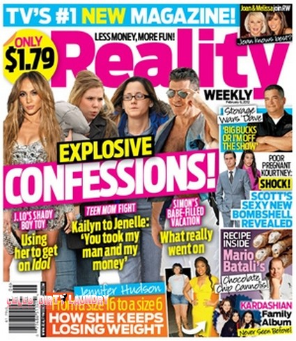 Explosive Confessions! About J-Lo, Teen Mom & Simon Cowell (Photo)
