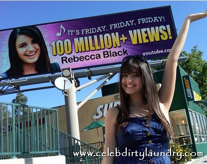 Rebecca Black Gets Giant Billboard While Recording Her Latest Assault On The Ears