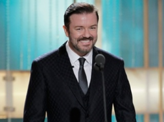 Ricky Gervais Bombs As Golden Globe Host - And Vanishes!